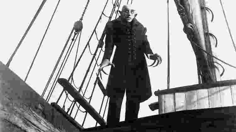 """Cena do filme """"Nosferatu"""" (1922), de F.W. Murnau - Reprodução - Reprodução"""