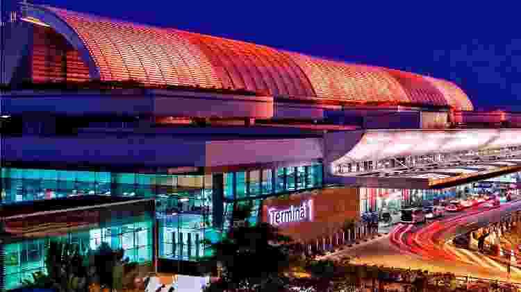 Parte exterior do terminal 1 do aeroporto de Changi, em Cingapura - Divulgação/Changi Airport Group