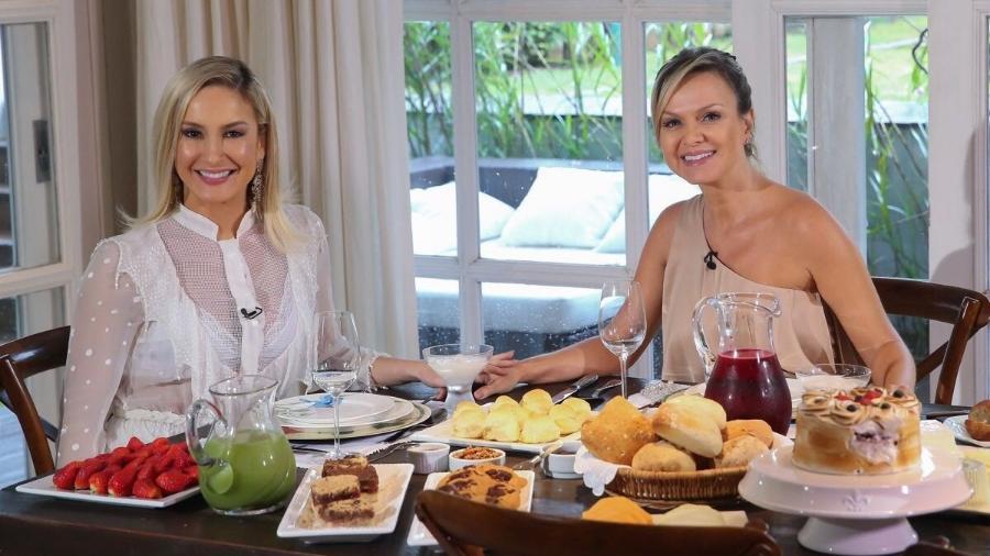 Claudia Leitte dá entrevista a Eliana na casa da apresentadora, em Alphaville, SP - Divulgação/SBT
