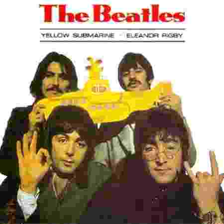 "Capa do single ""Yellow Submarine/Eleanor Rigby"" - Reprodução"
