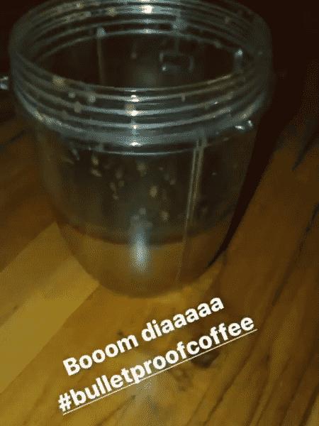 Bulletproof coffee - Insta Stories Gabriela Pugliesi - Reprodução/Instagram - Reprodução/Instagram
