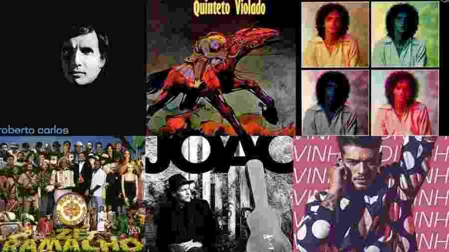 Capas de discos brasileiros que copiaram estrangeiros - Reprodução/Montagem