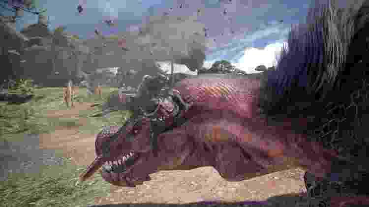 Criaturas enormes e extremamente violentas são os inimigos neste game de caça - Divulgação/Capcom