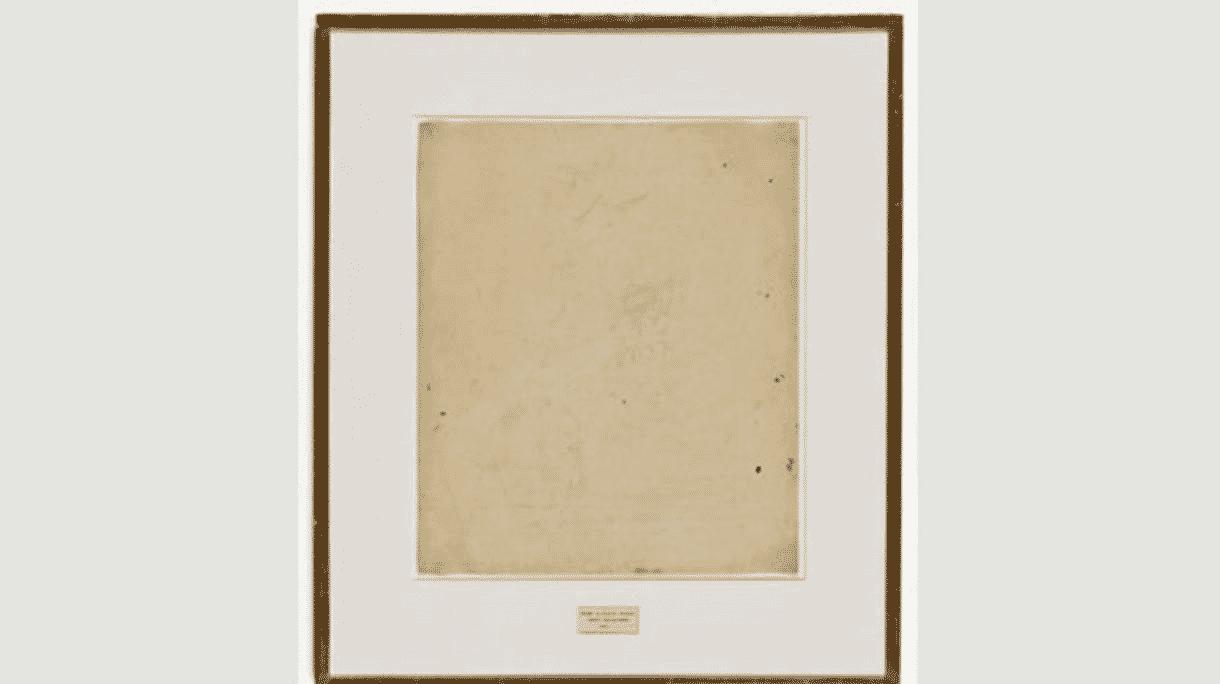 Robert Rauschenberg, Erased de Kooning Drawing, 1953 - Reprodução