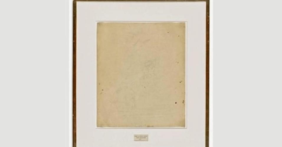Robert Rauschenberg, Erased de Kooning Drawing, 1953