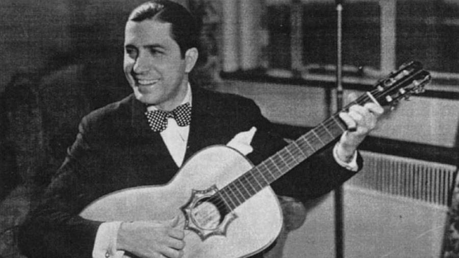 O cantor de tango Carlos Gardel - Reprodução