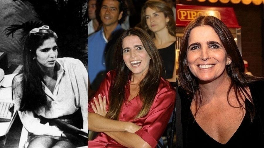 """Malu Mader já era prata da casa em 1988, aos 22 anos, quando foi a protagonista de """"Fera Radical"""" (à esquerda). Quinze anos depois, estrelou """"Celebridade"""". Mais 15 anos se passaram e a atriz continua com a mesma cara de menina, aos 51"""