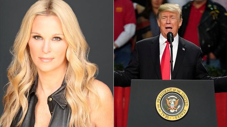 A ex-âncora da Fox News Juliet Huddy e Donald Trump - Reprodução/Twitter/Reuters
