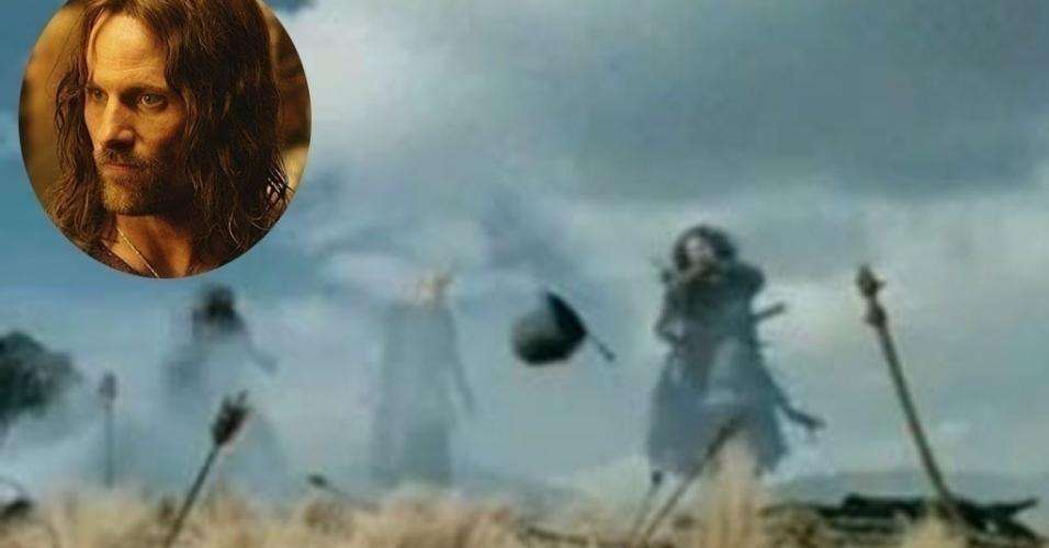 """Viggo Mortensen em cena de """"O Senhor dos Anéis: As Duas Torres"""" (2002)"""