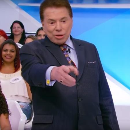 """Silvio Santos durante o """"Programa Silvio Santos"""" - Reprodução/TV Globo"""