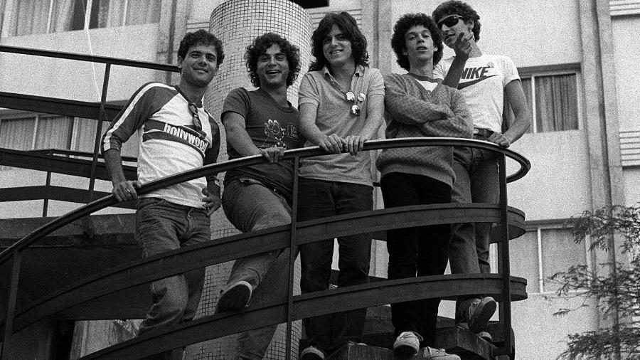 Barão Vermelho posa para foto em São Paulo em 1983 - Folhapress