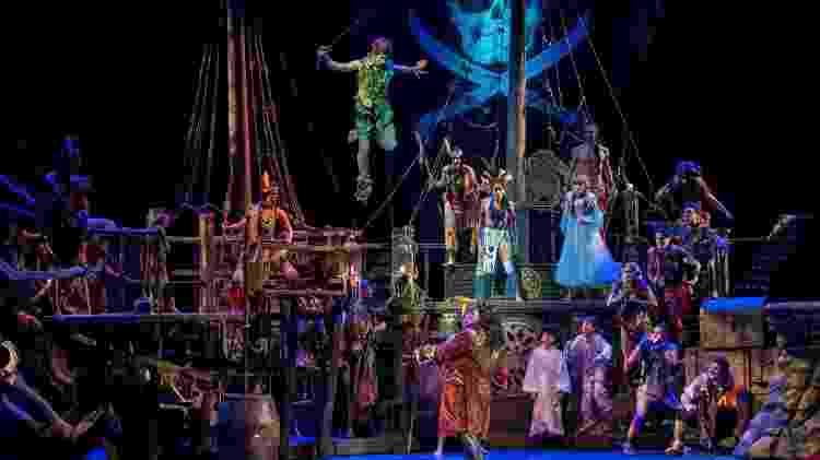 """Cena de """"Peter Pan, O Musical"""", clássico da Broadway em cartaz em São Paulo - Luis França/Fotoarena/Folhapress - Luis França/Fotoarena/Folhapress"""