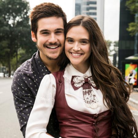 Juliana Paiva e Nicolas Prattes são os protagonistas da nova novela das 19h  - Globo/João Miguel Júnior