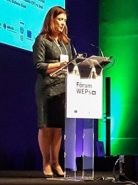 Nadine Gasman, representante da ONU Mulheres Brasil, durante o Fórum dos Princípios de Empoderamento das Mulheres - Angela Rezé/ Divulgação
