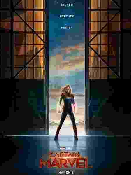 """Novo pôster do filme """"Capitã Marvel"""", divulgado junto com o primeiro trailer - Divulgação - Divulgação"""