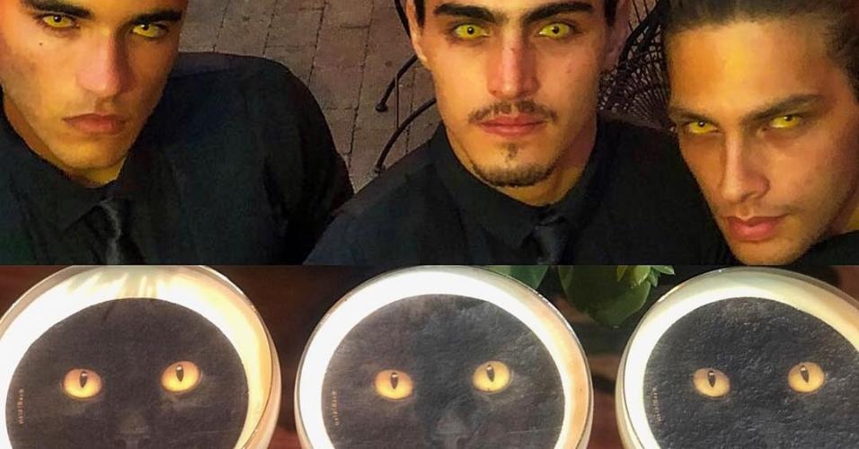 """Um dos drinks da festa de """"O Sétimo Guardião"""" trazia o rosto do gato Leon estampado"""