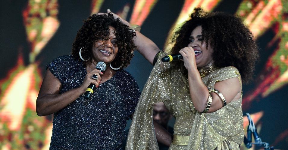 Mariene de Castro e Margareth Menezes cantam juntas no último dia do Festival Virada Salvador