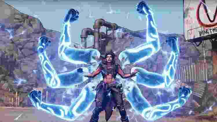 A Siren Amara é um dos quatro personagens iniciais em Borderlands 3 - Divulgação