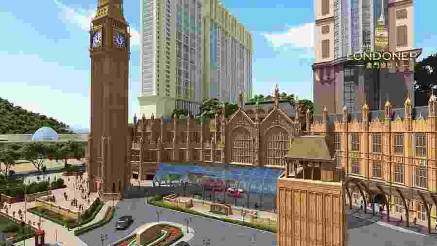 Prévia do hotel Londoner Macau, a ser inaugurado na China em 2020 - Divulgação/Londoner Macao