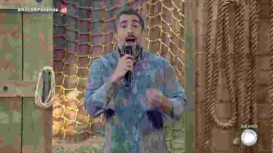 Marcos Mion apresenta noite de formação de roça em A Fazenda 2019 - Reprodução/RecordTV