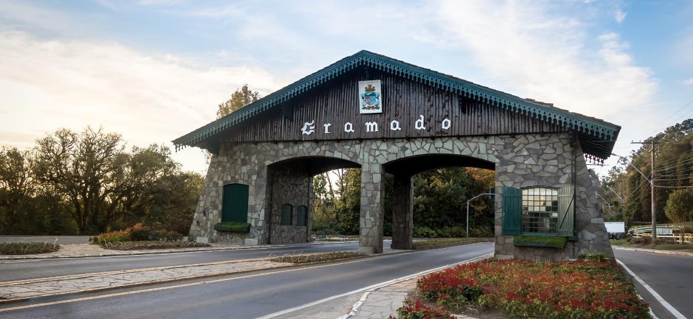 Entrada para a cidade de Gramado, no Rio Grande do Sul - iStock