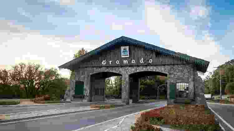 Entrada para a cidade de Gramado, no Rio Grande do Sul - iStock - iStock