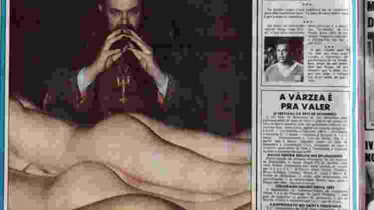 A tal 'foto das bundas' de Zé do Caixão no Notícias Populares - José Luis da Conceição/Reprodução - José Luis da Conceição/Reprodução