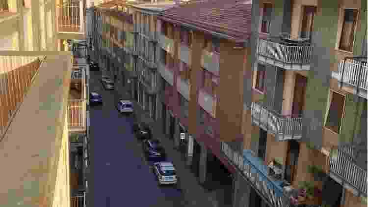 Ruas de Stradella estão praticamente sem movimento - Rosemere Filliponi/Arquivo Pessoal