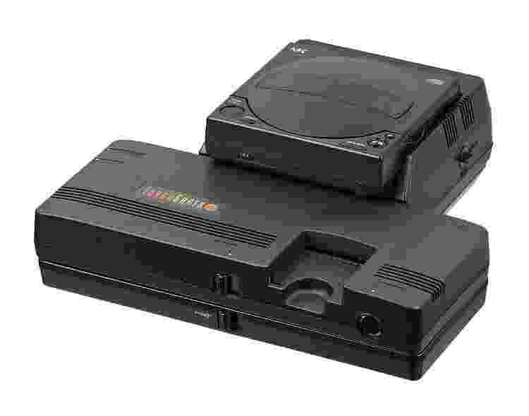 TurboGrafx-16 com a unidade de CD-ROM - Reprodução - Reprodução