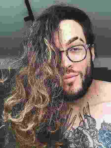 Mikael Gama, influencer especializado em cabelos compridos - Reprodução/Instagram - Reprodução/Instagram