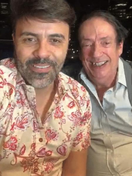 Marcos Oliveira em live com o produtor Rodrigo Oliver - Reprodução/Instagram/@rodrigooliver2