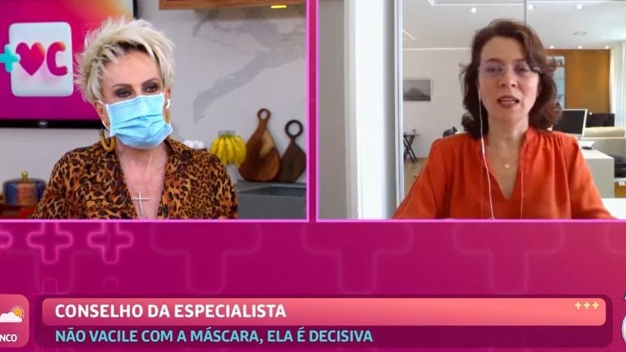 Cristina Barros conversou com Ana Maria Braga e fez pedido para tia tomar vacina - Reprodução/TV Globo