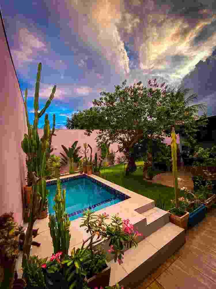 Jardim com a piscina da casa - Arquivo Pessoal - Arquivo Pessoal