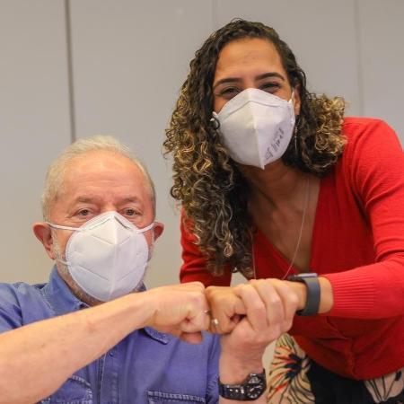 Anielle Franco e o ex-presidente Lula - Ricardo Stuckert