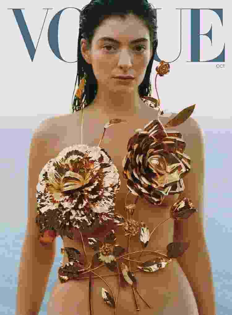 """Lorde para a edição de outubro da """"Vogue"""" - Reprodução - Reprodução"""