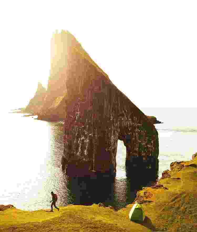 """Rocha Dranganir,: paisagem que parece saída da saga """"Senhor dos Anéis"""" - Getty Images - Getty Images"""