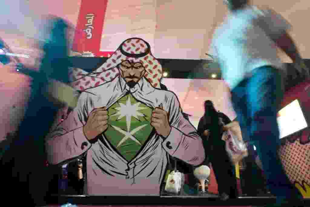 Fayez Nureldine/AFP Photo - Jidá, segunda maior cidade da Arábia Saudita, ganha primeira edição da feira de Comic Con, maior feira de cultura pop do mundo