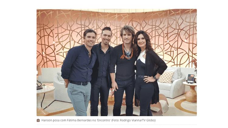 hanson no encontro - TV Globo - TV Globo