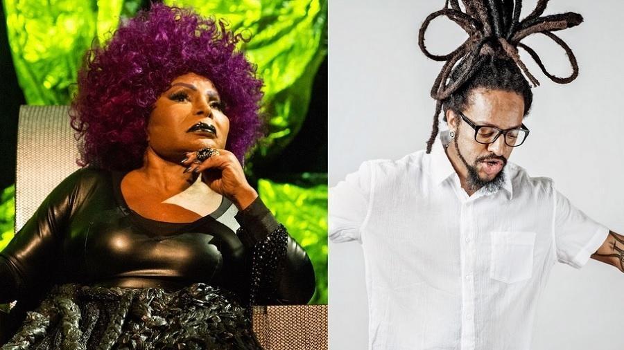 Elza Soares e Rael, que cantarão juntos no Rock in Rio - Divulgação/Montagem