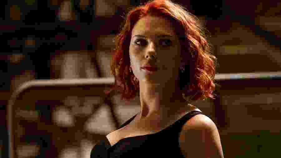 A atriz Scarlett Johansson como Viúva Negra - Reprodução
