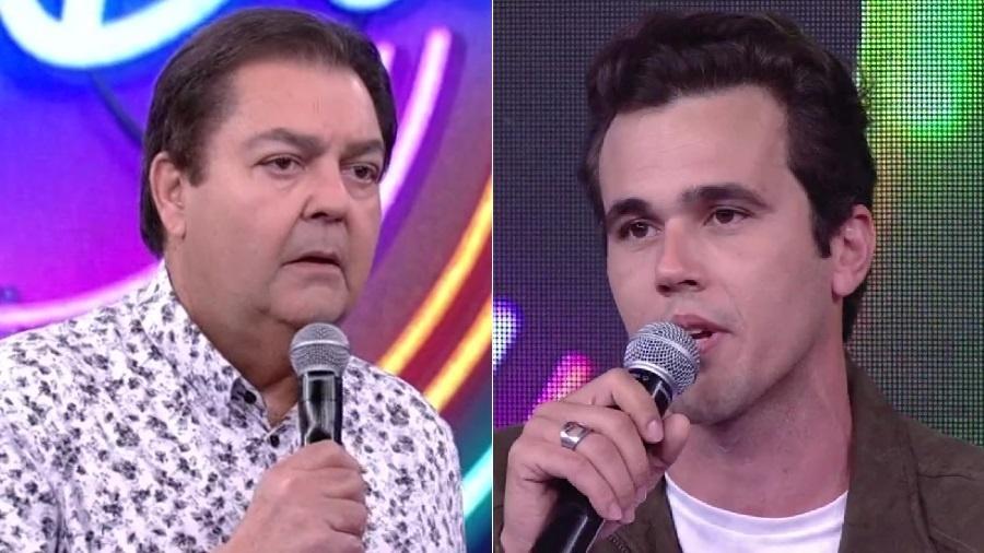 """Faustão diz que Bruno Ferrari está """"de volta à Globo"""", mas ator retornou há dois anos - Montagem/Reprodução/TV Globo"""