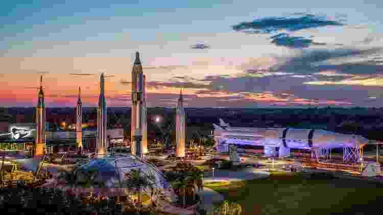 Vista panorâmica do exterior do Kennedy Space Center, na Flórida - Divulgação/Kennedy Space Center - Divulgação/Kennedy Space Center