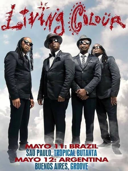 Flyer oficial da turnê brasileira da banda Living Colour - Divulgação