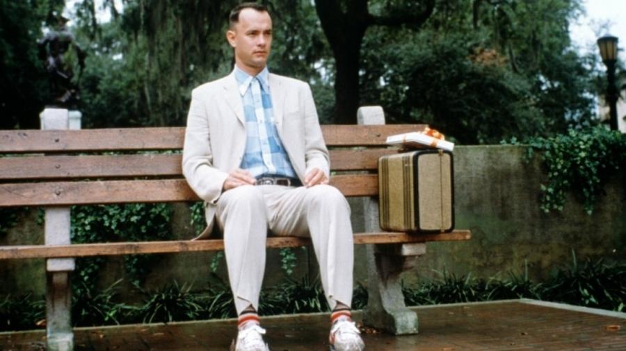 """Tom Hanks em cena de """"Forrest Gump: O Contador de Histórias"""" (1994) - Divulgação"""