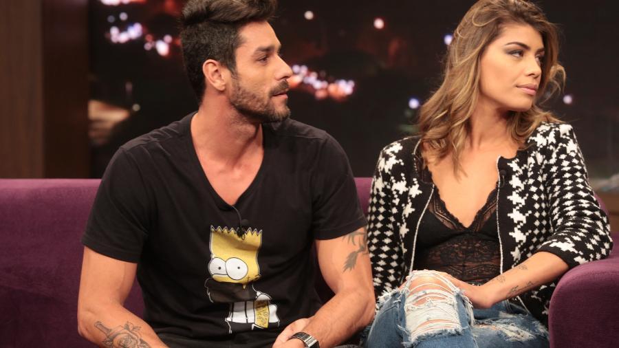 "Diego e Franciele Grossi no ""Programa do Porchat"" - Antonio Chahestian/Record TV"