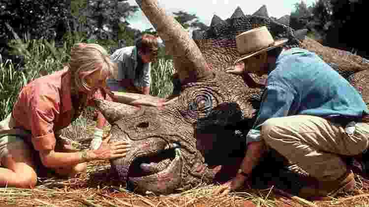 """Cena do filme """"Parque dos Dinossauros"""" - Reprodução - Reprodução"""