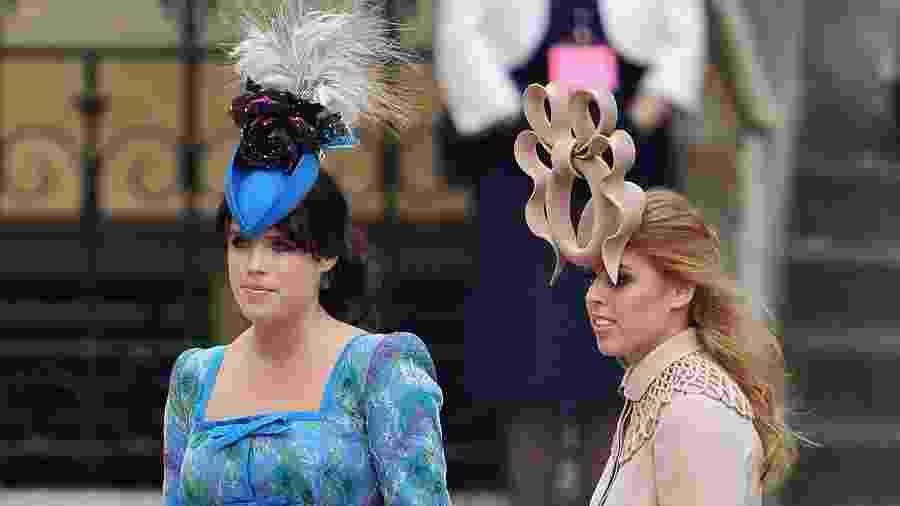 Eugenie e Beatrice de York no casamento de William e Kate Middleton - Getty Images
