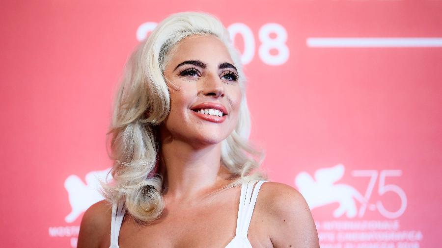 Lady Gaga no tapete vermelho do Festival de Veneza de 2018 - Filippo MONTEFORTE / AFP