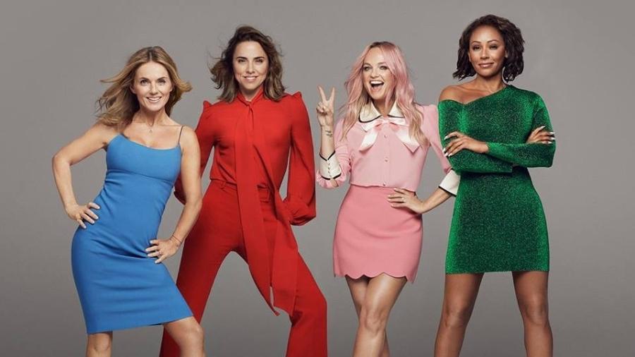 Foto das Spice Girls em 2018, agora sem Victoria Beckham - Divulgação