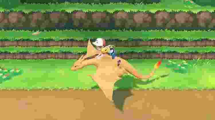 O Charizard é um Pokémon icônico do tipo fogo - Reprodução